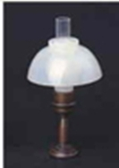 Table lamp clear chimney LT 1039