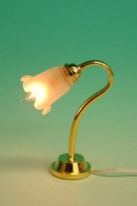 Table lamp with tulip frosted shade LT 1098B