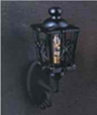 Black ornate coach lamp LT 2027