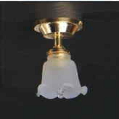 Single frosted tulip ceiling light LT 4005