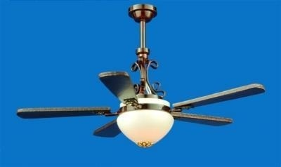 Ceiling light with fan bronze effect with shade LT 4035