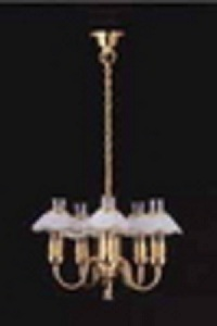 Chandelier gold white  5 arm LT 6027