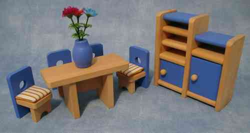 Dining room set Blue DCF 014