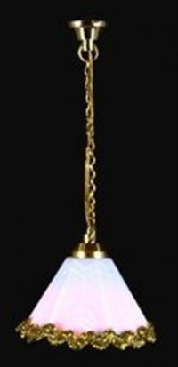 Hanging ceiling lamp with shade with gold trim LT 5051