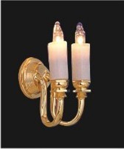 Double Candle Wall Lights : Double candle wall sconce LT 2002 Dolls house lighting