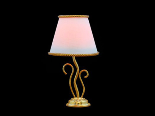 Large Fancy Table Lamp The shade is white with gold trim1062