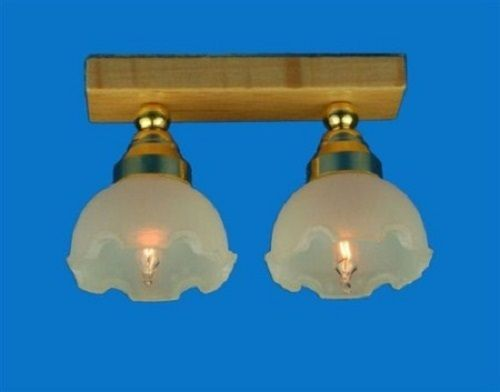 Twin fluted shade ceiling lamp  LT 4034