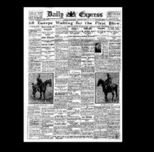 Daily Express 1914 1st August
