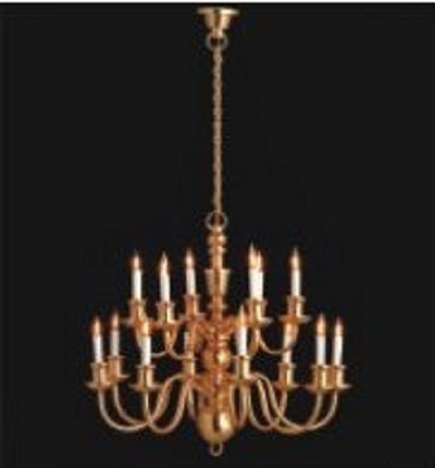 18 Arm candle chandelier gold finsh (elite range) LT 8014