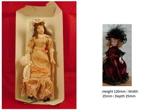 Lady and Victorian China Doll on a stands