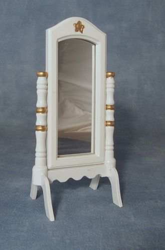 White Cheval Mirror DF221