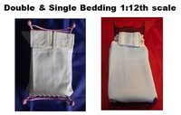Dolls House Single & Double  Bedding 1:12th scale