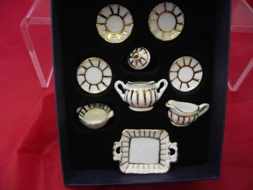 Dinner Set 6 plates Reutter Miniatures