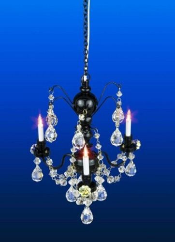 Real crystal  Black 3 arm chandelier LT 7002BLK